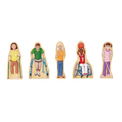 Wooden Wedgie Friends with Special Needs - Set of 5