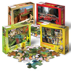 Real Photo 24-Piece Floor Puzzles