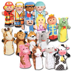 Classroom Puppet Pals Set - Set of 16