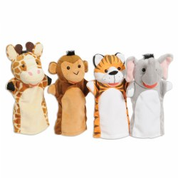 Zoo Friends Puppet Pals - Set of 4