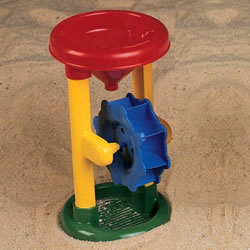 The chunky construction and playful colors demonstrate cause and effect and are ready for serious sand play. 1 wheel.