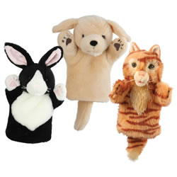 Cuddly Pets Hand Puppets - Set of 3