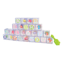 Toddler Flip Flop ABC Blocks - 26 Blocks With Movement and Sound