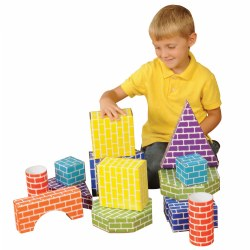 Corrugated Block Shapes - 45 Pieces