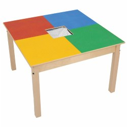 Wooden FunTable® Standard Size with Brick Plate Top