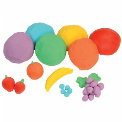 2 years & up. A set of six bright colors, and scented in fruit flavors, this dough is gluten-free, non toxic and non allergenic, and safe for all children. Keep covered and store in a cool, dry environment.