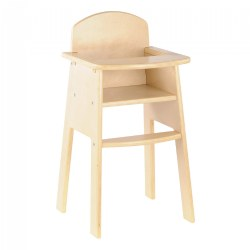 Wooden High Chair for Dolls