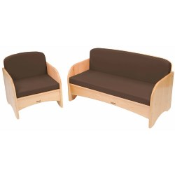 Premium Solid Maple Couch and Chair Group