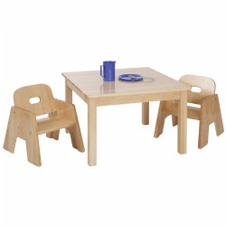 Premium Solid Maple Toddler Table u0026 Chair Set  sc 1 st  Kaplan Early Learning : toddlers chair and table set - pezcame.com