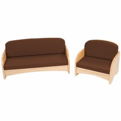 Premium Solid Maple Toddler Couch and Chair Group