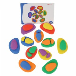 Colorful and Different Sized Rainbow Pebbles - 36 Pieces