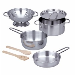 Stainless Steel Pots & Pans Play Set (8-Piece Set)