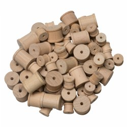 Wooden Craft Spools - 144 Pieces