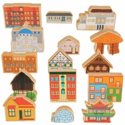 Homes Around the World Wooden Blocks (Set of 15)