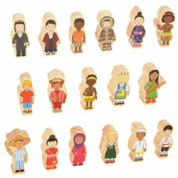 Children Around the World Wooden Figures - Set of 17