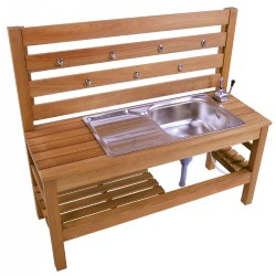 Outdoor Mud Kitchen with Pump