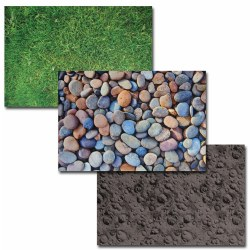 "2 years & up. Bring the feel of the outdoors inside with these vibrant, real-image play mats. The polyester surface is extremely lifelike and is sure to captivate young learners. Each mat measures 59""L x 39 1/2""W."