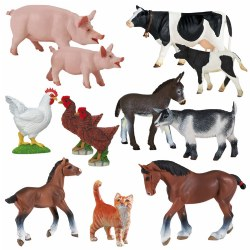Animals On the Farm Set (Set of 12)