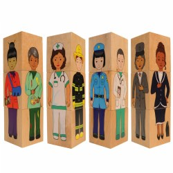 Career Wooden Blocks - Set of 12