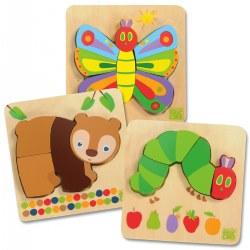 The Very Hungry Caterpillar Puzzles - Set of 3