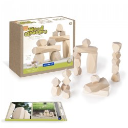 Wood Stackers: Standing Stones - Set of 20