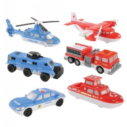 Magnetic Mix and Match Vehicles - 18 Pieces