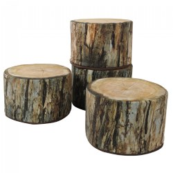 Soft Woodland Tree Stump - Set of 4