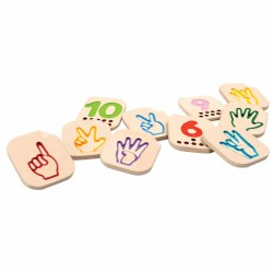 Hand Sign Language Numbers 1-10