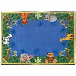 "Jungle Friends Primary Colors Rug - 5'4"" x 7'8"" Rectangle"