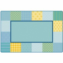 Pattern Blocks Soft Colors Rug - 6' x 9'