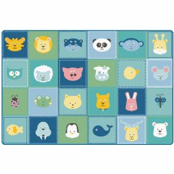 Animal Patchwork Soft Colors Rug - 6' x 9'