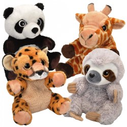 "Birth & up. These plush puppets are 10"" tall and can be used as a puppet or a friend to snuggle with."