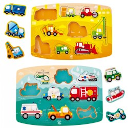 Vehicle Themed Peg Puzzle Set (Set of 2)