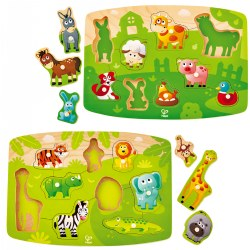 Animal Themed Peg Puzzle Set (Set of 2)