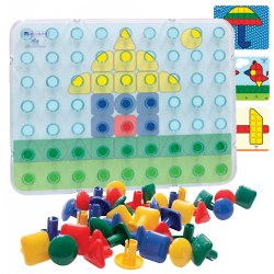 Super Pegs Set and Cards - 64 pieces