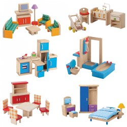 Wooden Dollhouse Furniture