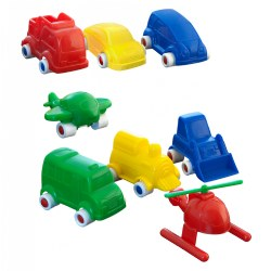 "3 1/2"" Assorted Vehicles (Set of 18)"