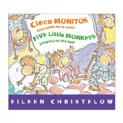 Five Little Monkeys Jumping on the Bed - Bilingual Board Book