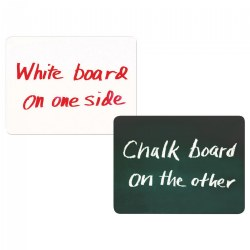 Double-Sided Chalkboard and Dry-Erase Board- Set of 10