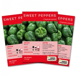 Sweet Bell Pepper Seeds 3-Pack
