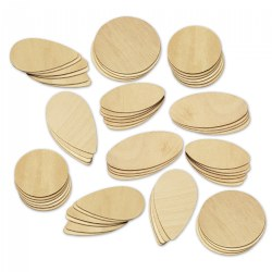 Giant Wooden Shapes - Set of 60