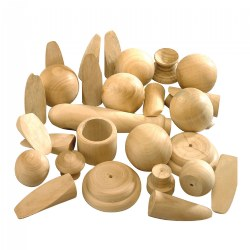 Natural Wood Turnings - 5 lbs.