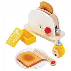 Pop Up Toaster Wooden Dramatic Role Play and Pretend Play Set for Kids