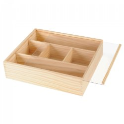 Deep Wooden Box with Lid