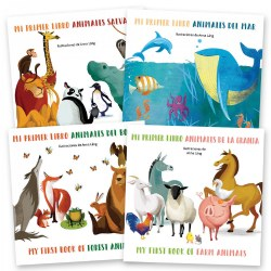 My First Animals Book Set - Bilingual Board Books