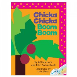 Chicka Chicka Boom Boom Book and CD - Paperback