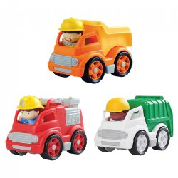 Mini Wheels Combo - Set of 3 Trucks and 3 Poeple