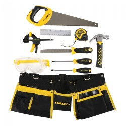 Kid's Stanley 10-Piece Tool Set with Tool Belt