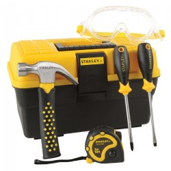 Kid's Stanley Toolbox with 5-Piece Tool Set