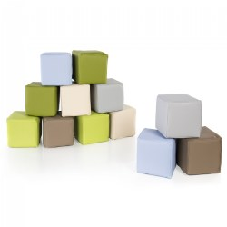 Soft Oversized Toddler Blocks in Natural Colors